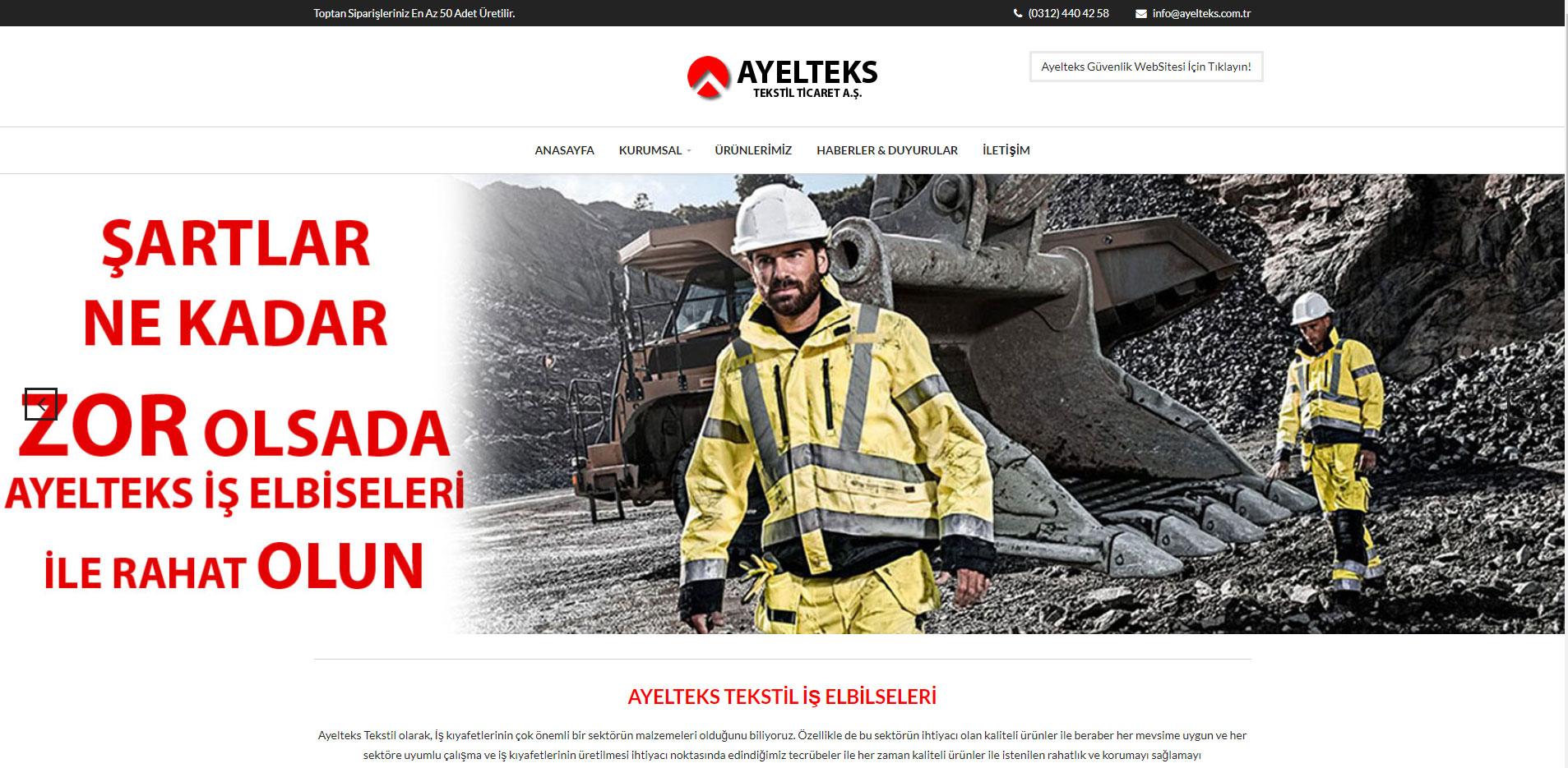 Ayelteks Güvenlik Yeni Web Sitesi Ile Yayında...